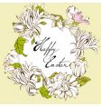 Easter egg with floral elements vector image vector image