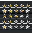 modern stars rating set on black vector image vector image