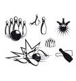 bowling symbols vector image