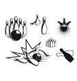 bowling symbols vector image vector image