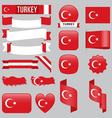 Turkey flags vector image