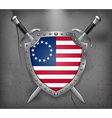 American Betsy Ross Flag Medieval Background vector image