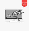 Analizing success concept icon Flat design gray vector image