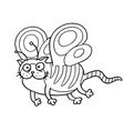 cartoon fairy cat flight cute fur character vector image