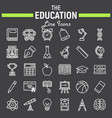 education line icon set school symbols collection vector image