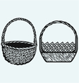 Empty wicker basket vector image