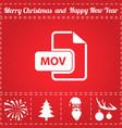 mov icon vector image