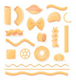 various italian paste isolated set vector image