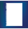 Blank notepad paper vector image vector image