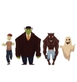 People dressed in monster zombie werewolf and vector image vector image