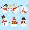 Cute Snowman Set vector image