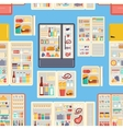 Open refrigerator products pattern vector image