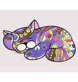 cat in ethnic style 2 vector image