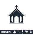 Church icon flat vector image
