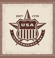 vintage usa independence day label vector image