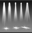 white beam lights spotlights scene vector image