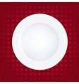 White Plate On Red Background vector image vector image