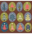 cute Christmas trees vector image