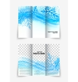 Trifold snowflake brochure vector image vector image