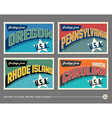 United States vintage postcards vector image vector image
