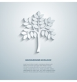 Environmental background with tree simulated 3 vector image