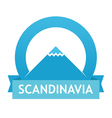 Badge with Scandinavian Landscape vector image vector image