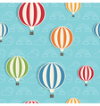 hot air balloon pattern vector image vector image