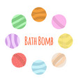 bath bomb cartoon set nature organic soap vector image