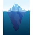 Big iceberg in the sea flat vector image