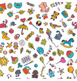doodle children background seamless pattern for vector image