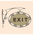exit text on vintage street sign vector image