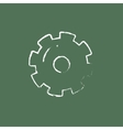 Gear icon drawn in chalk vector image