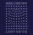 greeting card for christmas and new year holiday vector image