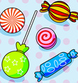 Seamless candy pattern vector image