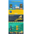 Supermarket Infographic Layout vector image
