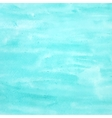Turquoise watercolor background for design vector image