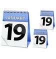icon calendar Epiphany vector image vector image