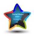 Social media and networking logo vector image vector image