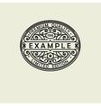 Beautiful floral Oval emblem badge monogram for vector image