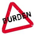 Burden rubber stamp vector image