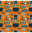 Computer parts seamless pattern vector image