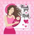 happy mother day woman hold infant spring holiday vector image