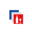 Beverage logo in French flag colors vector image vector image