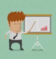 BusinessmanShowGraph vector image