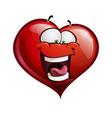 Heart Faces Happy Emoticons LOL vector image
