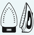 Modern steam iron vector image