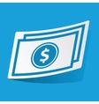 Dollar bill sticker vector image
