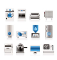 home electronics and equipment icons vector image vector image