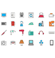 Appliances colorful icons set vector image vector image