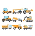 Machines for Construction Work Set vector image